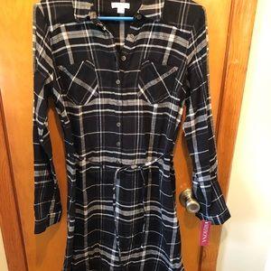 Merona long sleeve flannel dress. Size M